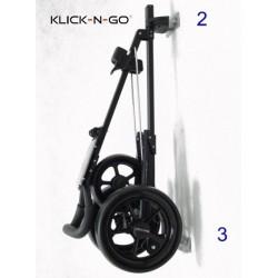 Wandhaken Set WS 075 voor Klick-N-Go GT200 - GT250 - GT300 - GT350 - GT400 golf trolleys met trolley aan de muur