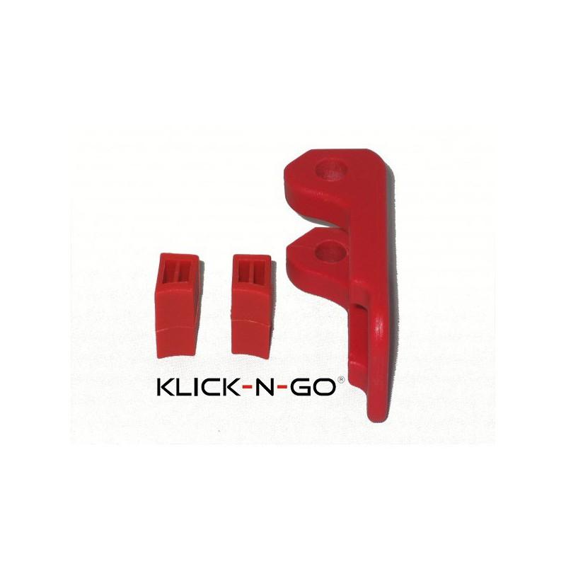 Klick-N-Go Explorer onderste duwstang klemblokjes met vastzethendel
