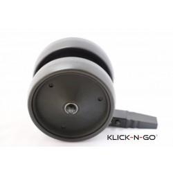Klick-N-Go Explorer voorwiel. Dubbele uitvoerin