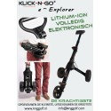 Volledig elektronisch. Klick-N-Go e-Explorer Li-Ion trolley